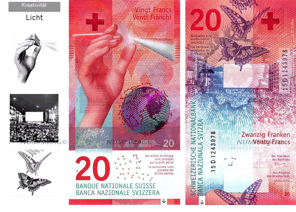 20 francs swiss banknotes 2017
