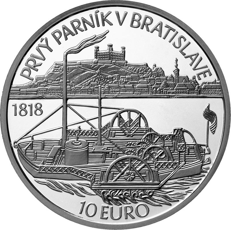 2018 €10 slovak commemorative coin Steamer CAROLINA