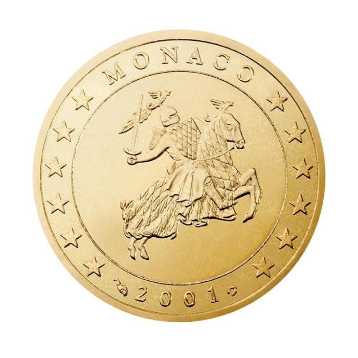 50centimes d'euro Monaco Première série, 2001-2005 - Valeurs et tirage des pièces euros de la Principauté de Monaco - Pièces de circulation et commémoratives