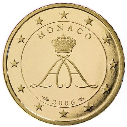 50centimes d'euro Monaco Seconde série, à partir de 2006 - Valeurs et tirage des pièces euros de la Principauté de Monaco - Pièces de circulation et commémoratives