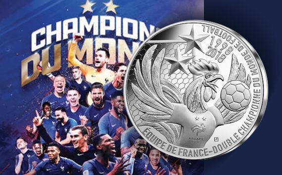 10€ argent – La France championne du monde de Football – Russie 2018 – Monnaie de Paris