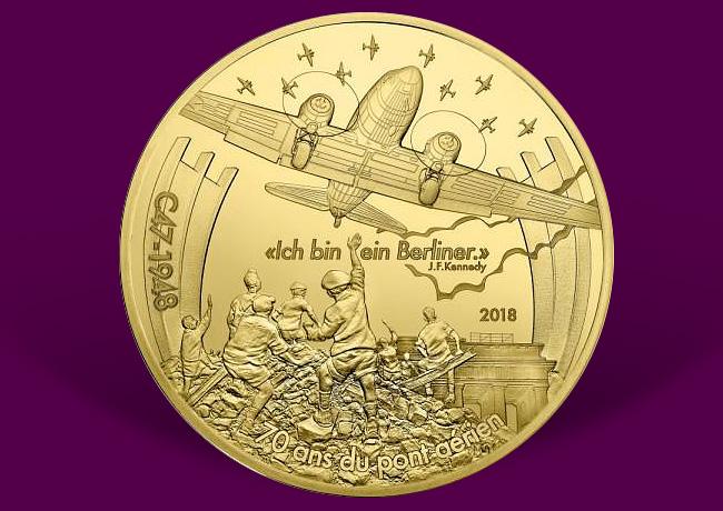 L'aviation et l'histoire – Dakota – monnaie en argent & Or Monnaie de Paris 2018