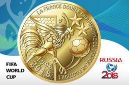 Médaille souvenir – La France double champion du monde de football 1998-2018