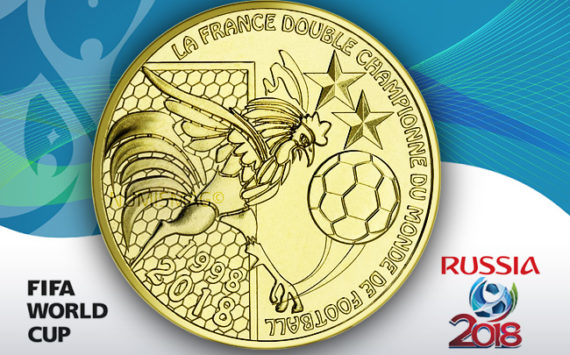 Médaille souvenir – La France double champion du monde de football 1998-2018