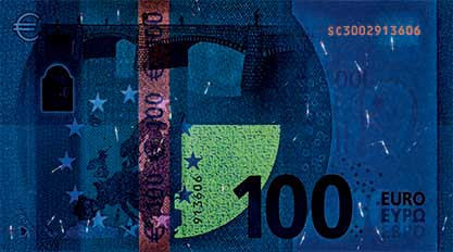 new 100 euro note - new 100 euro - new euro notes - new euro banknotes