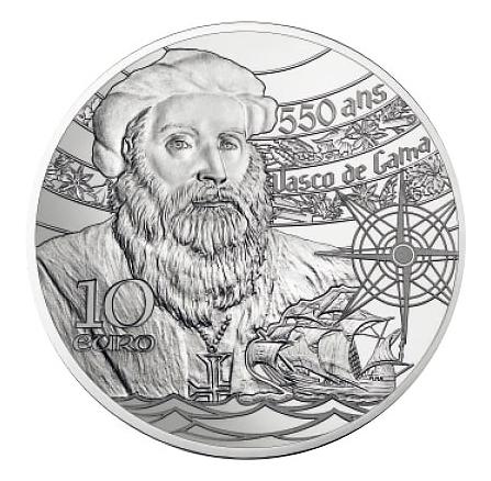 10€ Argent BE Tour de Belem,Vasco de Gama