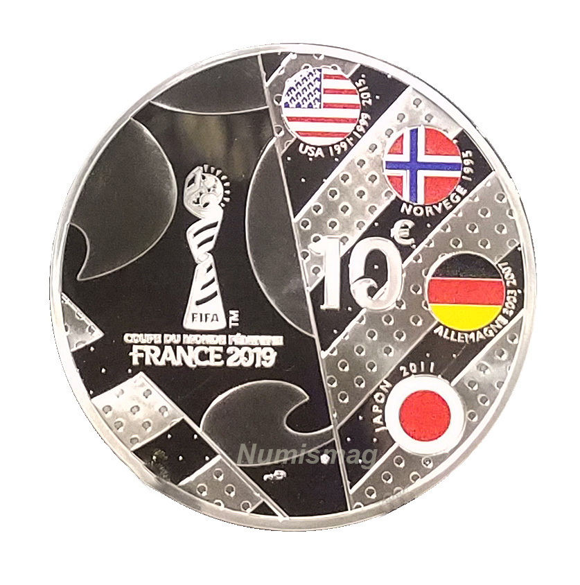 Coins FIFA Women's world cup France 2019 - Monnaie de Paris