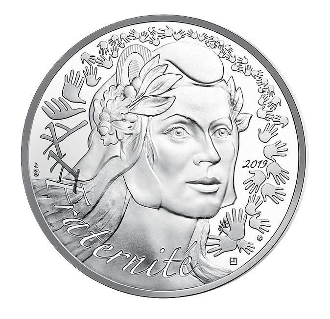 20€ argent La Marianne Fraternité Monnaie de Paris 2019