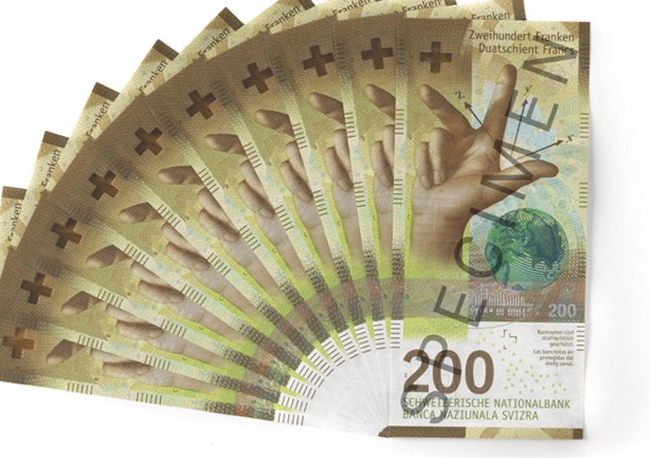 New range of swiss banknotes – 10, 20, 50, 100, 200 and 1000 swiss francs