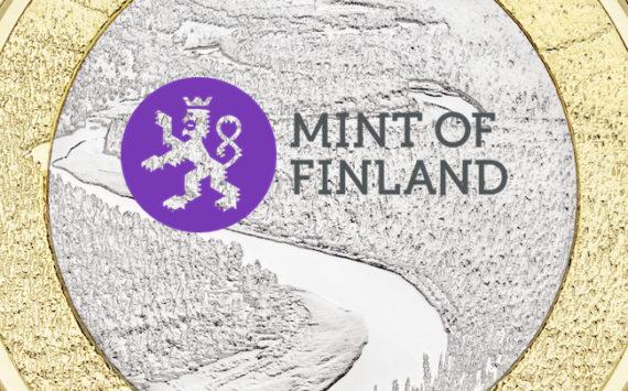 5 € paysage naturel de la rivière Oulankajoki – série Paysages nationaux finlandais 2018