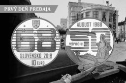 2018 €10 silver coin commemorating end of PRAGUE SPRING – SLOVAKIA