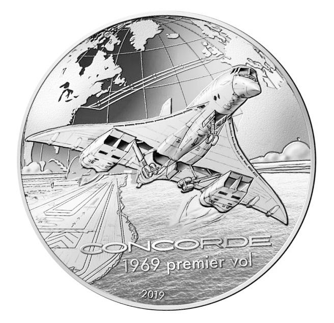 10 euros 50 ème anniversaire duConcorde (2 mars 1969) monnaie de Paris 2019
