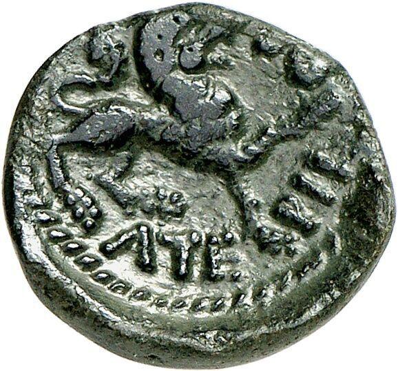 "Carnutes (Gaul). Bronze, type ""Tovtobocio-Atepilos"". 50-30 BC"