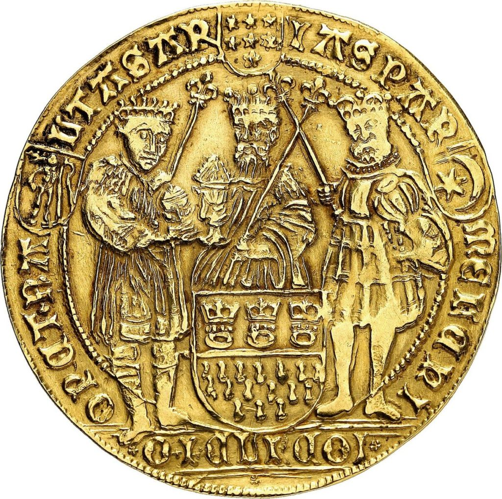 Cologne. Gold strike of 4 gold gulden from the dies of the dreikönigstaler n.d. (ca 1620)