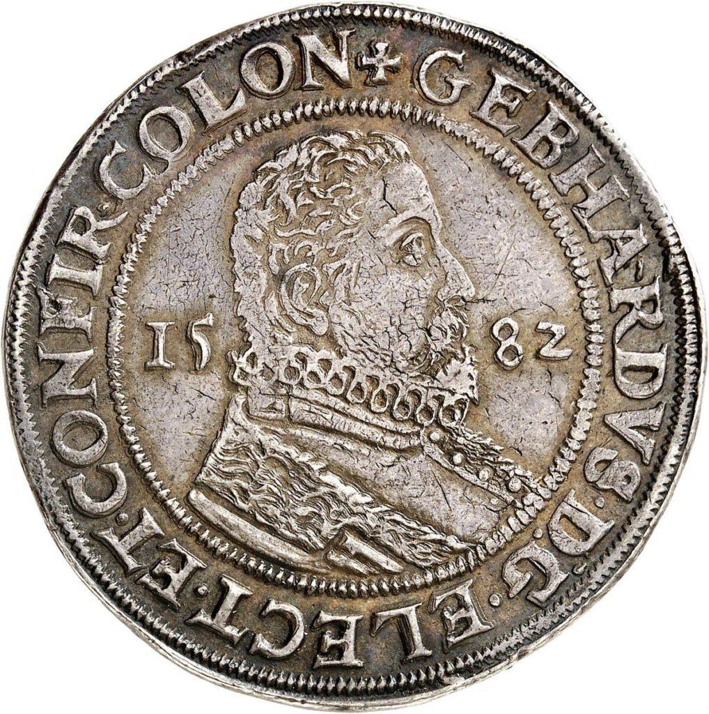 Gebhard Truchsess of Waldburg, 1577-1583. Reichstaler 1582, Deutz
