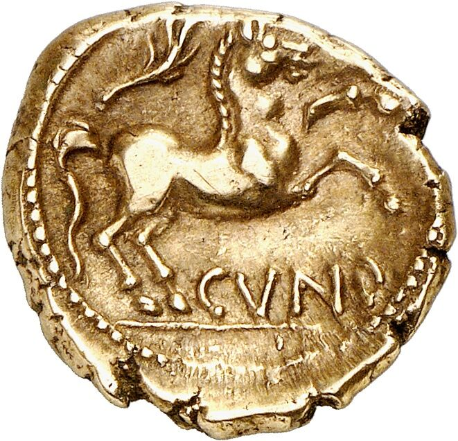 Catuvellauni and Trinovantes (Britain). Cunobeline, 8-41 AD. Gold stater