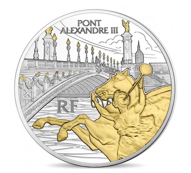Pièces de 10 & 50 euro Argent - Pont Alexandre III - série Trésors de Paris - Monnaie de Paris