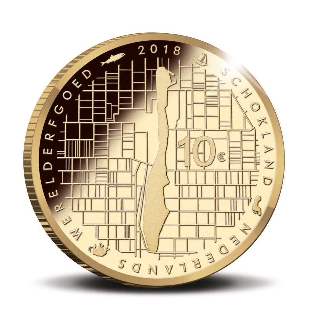 €5 €10 commemorative coin SCHOKLAND 2018 struck by KNM - NETHERLANDS