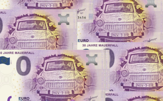 Zero euro banknote celebrating the 1989 fall of Berlin Wall – Germany 2018