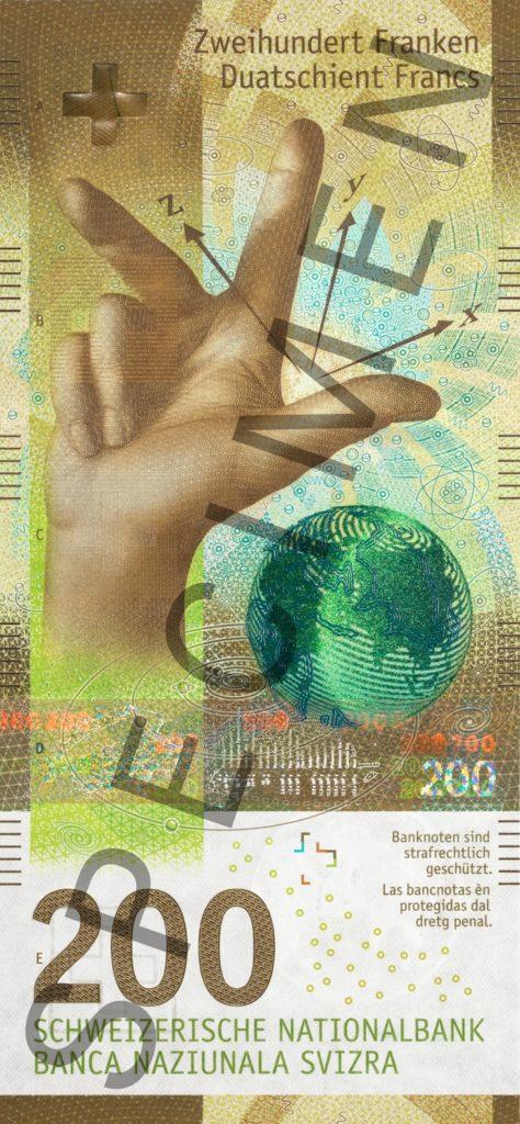 Nouvelle Serie De Billets Suisse 10 20 50 100 200 Et 1000 Francs