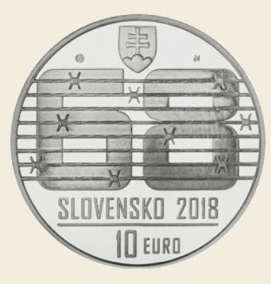 10€ slovaque 2018 commémorant le 50ème anniversaire du Printemps de Prague