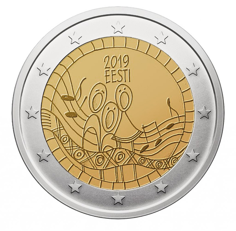2€ Commemorative coin 2019 - Estonia 150th anniversary of the Estonian Song Festival - 2 euro commemorative 2019 - 2 euro commemorative coins 2019 - 2 euro 2019 - euro coins 2019 - 2 euro coins 2019 - 2 euro commemorative coins - 2019 commemorative coins - new coins for 2019
