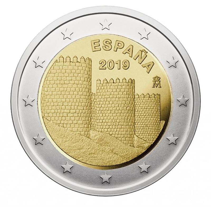 2 € commémorative 2019- Espagne - - 2 euros 2019 -2 euros commemorative 2019 -pièces commémoratives 2 euros 2019 -2 euros commémoratives 2019 -2 € commémorative 2019 -2 euro 2019
