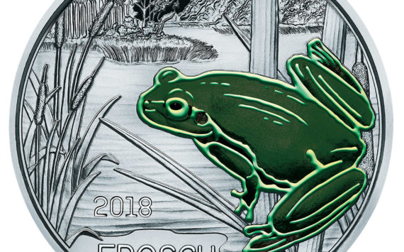 "COLOURFUL CREATURES SERIES  –  2018 AUSTRIAN ""FROG"" COIN"