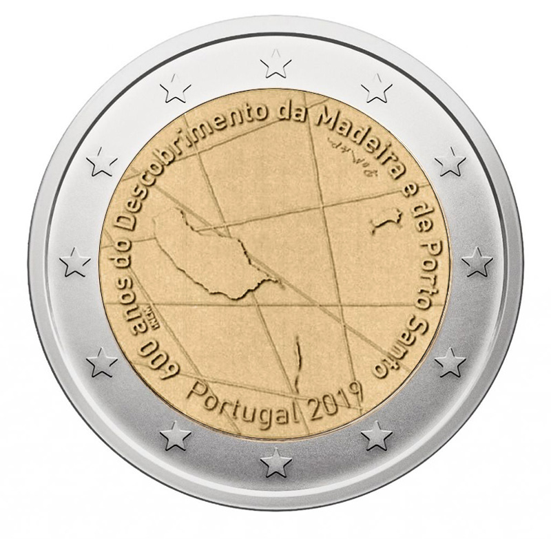 """Portugal 2 euro coin 2019 /""""Madeira and Porto Santo/"""" UNC"""