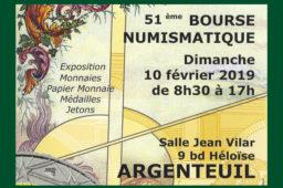 Bourse numismatique 2019 du CNA (Club Numismatique d'Argenteuil)