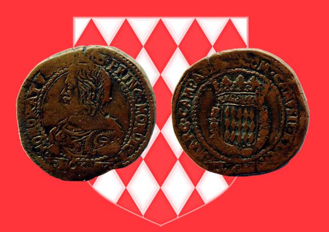 Monnaie de 12 Gros ou Fiorino d'HONORÉ II de Monaco de 1640, vendu 13 500 euros !