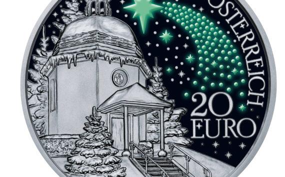 Autriche: Edition particulière 2018 d'une pièce 2/3 once d'argent «douce nuit»