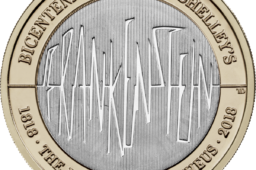 2018 Royal Mint 2 pounds dedicated to FRANKENSTEIN