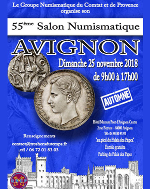Salon numismatique Avignon novembre 2018