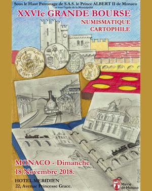 Grande bourse numismatique Monaco Novembre 2018