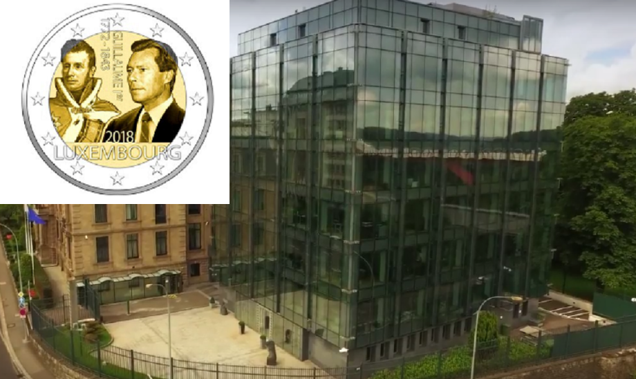 2018 €2 commemorative coin dedicated to Grand Duke William the first
