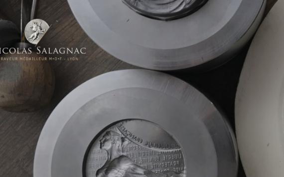 Médaille du SENAT 2018, gravée par NICOLAS SALAGNAC et éditée par Arthus BERTRAND