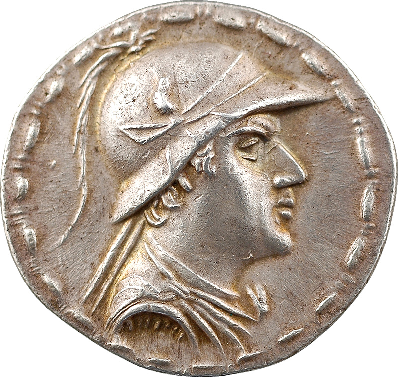 Bactriane, Eucratide, tétradrachme, 171-135 av. J.-C