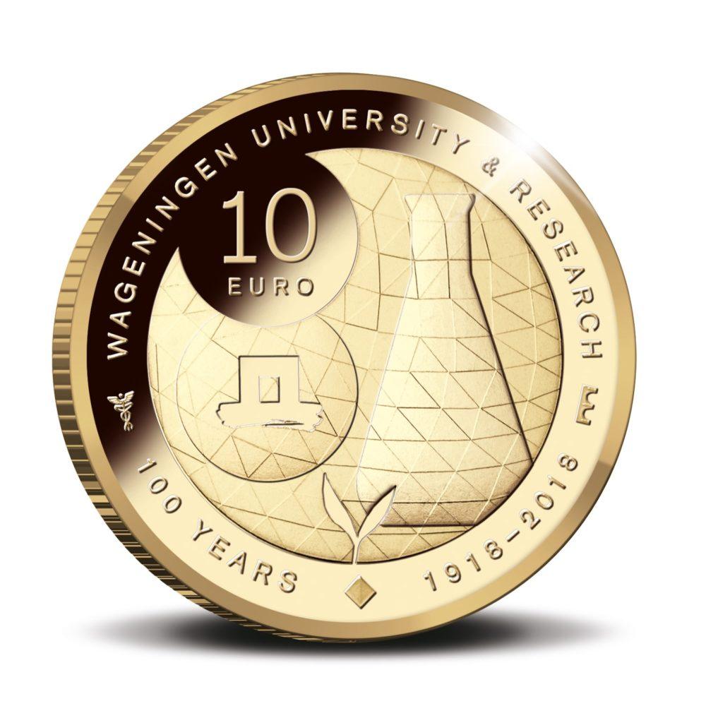 UNIVERSITE de WAGENINGEN  pièces commemoratives de 5 et 10€ 2018
