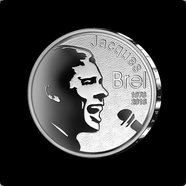 BELGIQUE: Jacques BREL a une pièce de 10€ frappée par la MRB