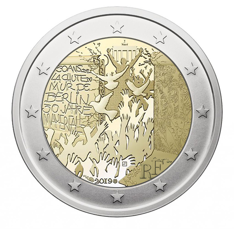 2€ coin 2019 - France Celebrate the 60th anniversary of Asterix - 2 euro commemorative 2019 - 2 euro commemorative coins 2019 - 2 euro 2019 - euro coins 2019 - 2 euro coins 2019 - 2 euro commemorative coins - 2019 commemorative coins - new coins for 2019