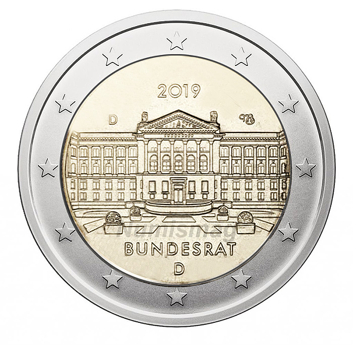 2€ coin 2019 - Germany  70th anniversary of the German Bundesrat.
