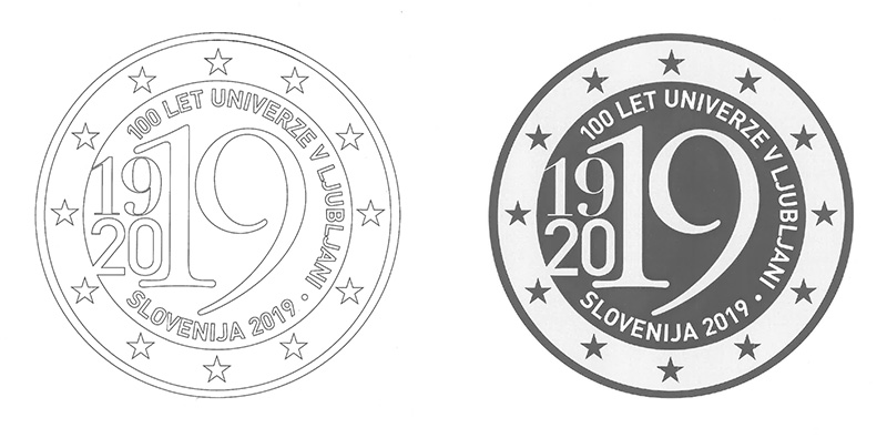 2€ coin 2019 - Slovenija Centenary of the foundation of the oldest University in Ljubljana founded in 1919 - 2 euro commemorative 2019 - 2 euro commemorative coins 2019 - 2 euro 2019 - euro coins 2019 - 2 euro coins 2019 - 2 euro commemorative coins - 2019 commemorative coins - new coins for 2019
