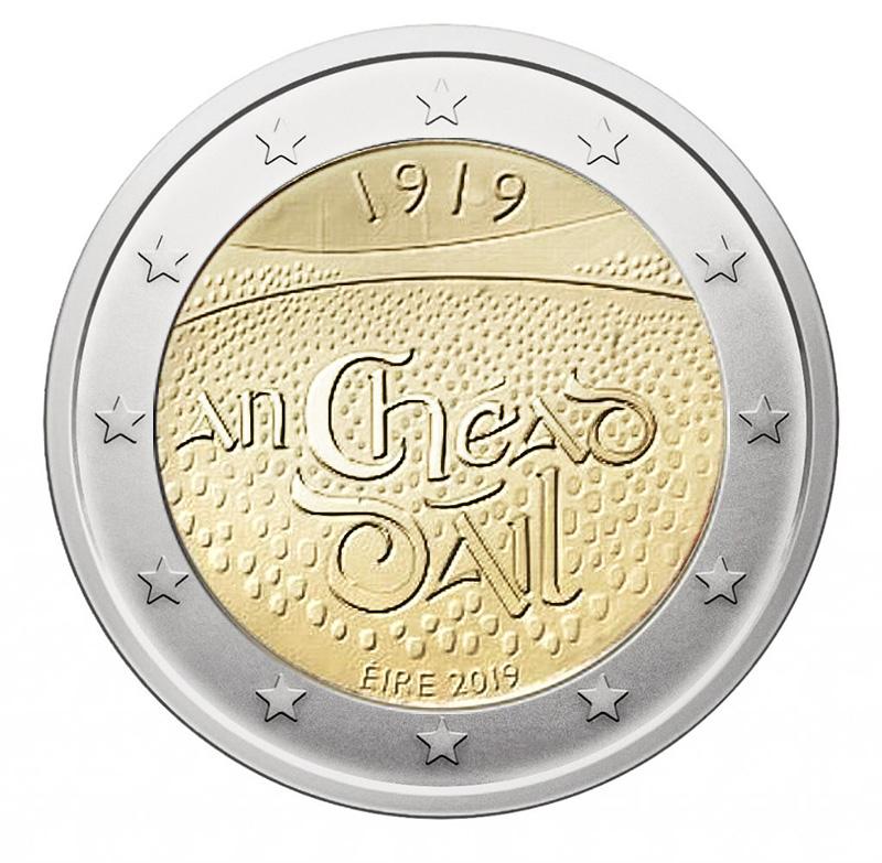 Dáil Éireann 100 Year 2019 Ireland € 2 Euro UNC Coin First Parliament Assembly