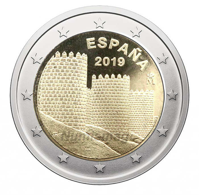 2€ Commemorative coin 2019 - Avila Spain