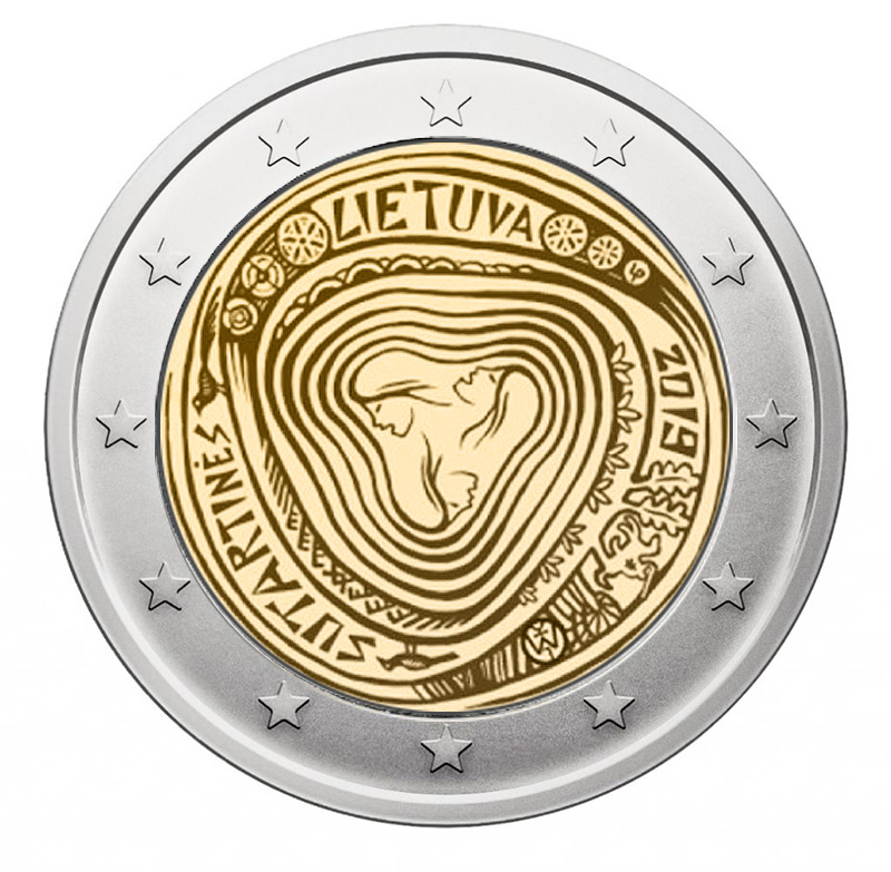 2€ coin 2019 - Lithuania Commemoration of sutartinės, traditional Lithuanian polyphonic songs - 2 euro commemorative 2019 - 2 euro commemorative coins 2019 - 2 euro 2019 - euro coins 2019 - 2 euro coins 2019 - 2 euro commemorative coins - 2019 commemorative coins - new coins for 2019