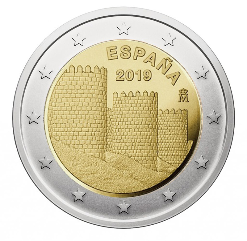 2€ Commemorative coin 2019 - Spain UNESCO World Heritage Site Ávila's Old Town