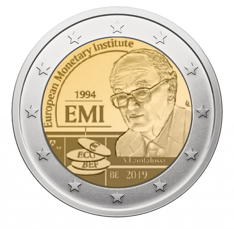 2€ coin 2019 - Belgium 25 years of the European Monetary Institute - Belgium 2019 - 2 euro commemorative 2019 - 2 euro commemorative coins 2019 - 2 euro 2019 - euro coins 2019 - 2 euro coins 2019 - 2 euro commemorative coins - 2019 commemorative coins - new coins for 2019