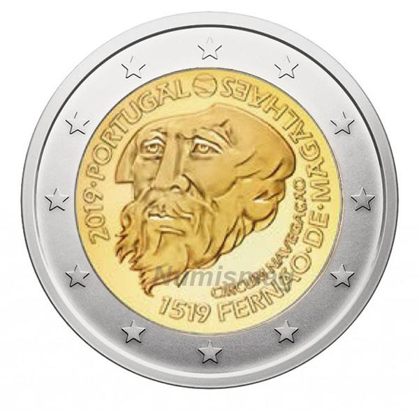 2 euro Commémoration des 500 ans de la route de Magellan Portugal 2019