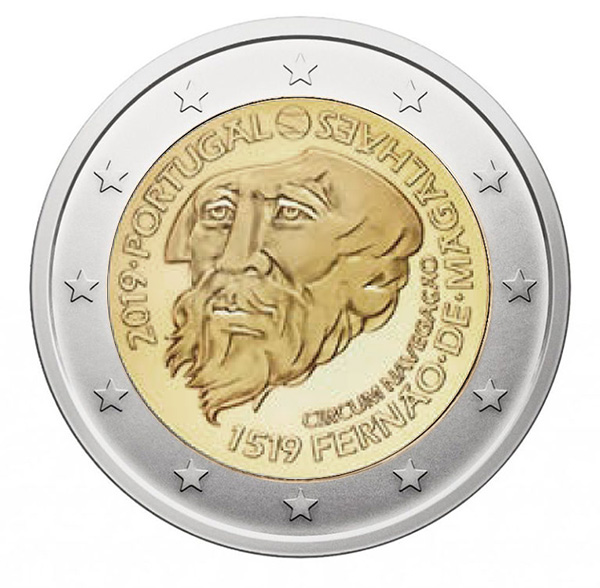 2€ coin 2019 - Magellan Portugal - 2 euro commemorative 2019 - 2 euro commemorative coins 2019 - 2 euro 2019 - euro coins 2019 - 2 euro coins 2019 - 2 euro commemorative coins - 2019 commemorative coins - new coins for 2019